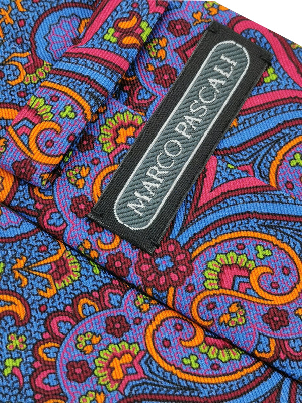 Paisley Neon Blossoms tie fabric zoom