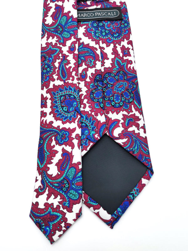 White Royal Paisley tie tipping