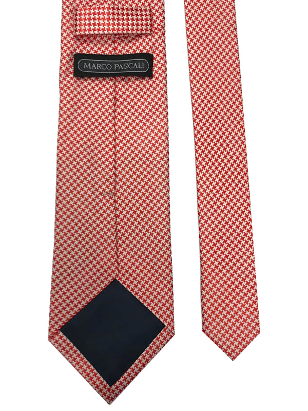 White Houndstooth In Red
