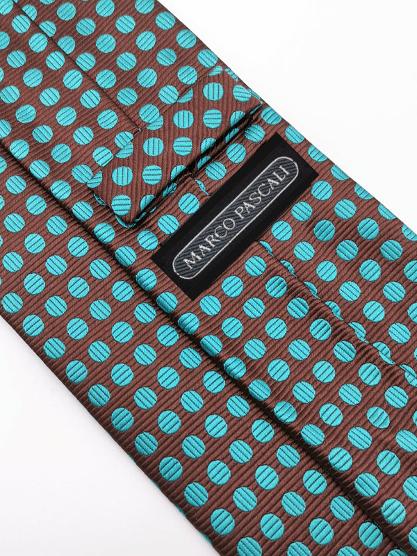 Aqua Dots Brown tie