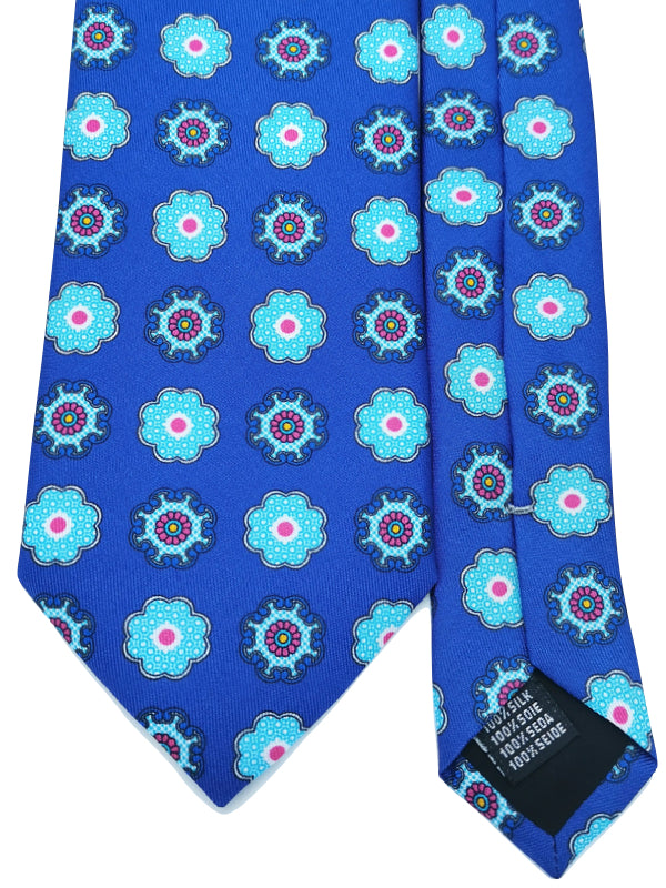 Chunky Medallions Azure tie