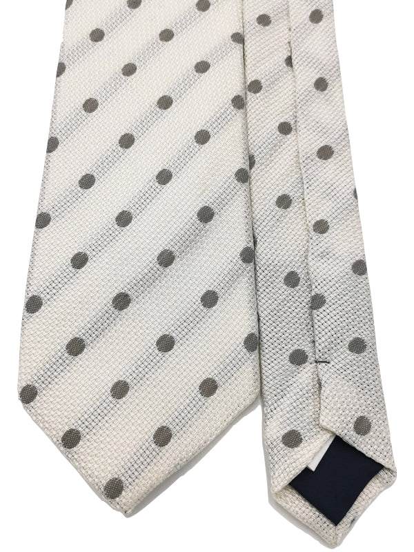 Grey Dots In Ivory