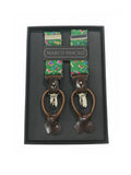 Chivalry Ages Silk Suspenders in Green