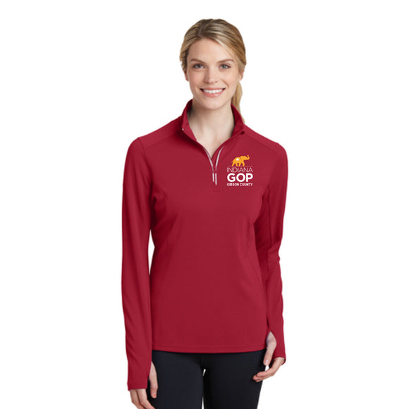 Gibson County Ladies Textured 1/4 Zip Pullover
