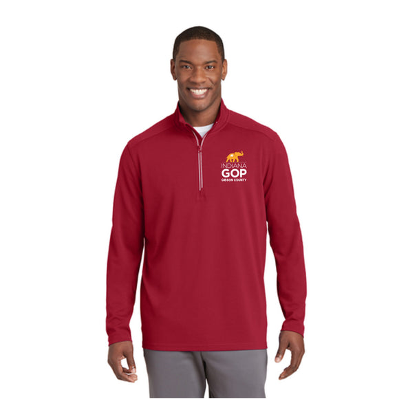 Gibson County Textured 1/4 Zip Pullover