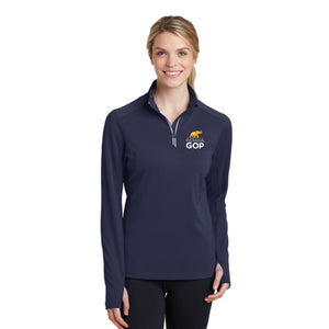 IN Republican Ladies Textured 1/4 Zip Pullover