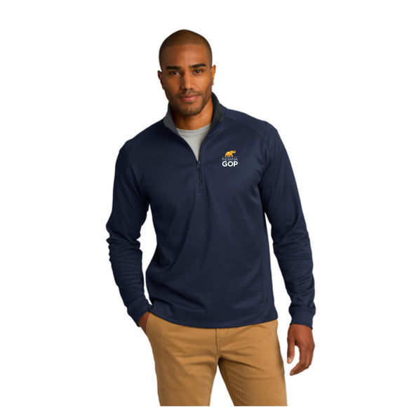 Men's Vertical Texture 1/4 Zip Pullover