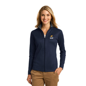 Ladies Full Zip Vertical Texture Jacket