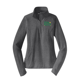 Klutz for Auditor Ladies Textured 1/4 Zip Pullover - Heather Grey