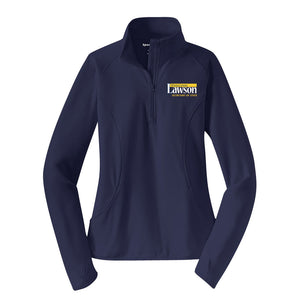 Lawson for SOS Ladies Textured 1/4 Zip Pullover - Navy