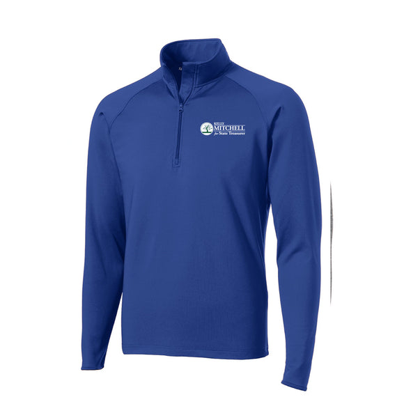 Mitchell for Treasurer Textured 1/4 Zip Pullover - Royal