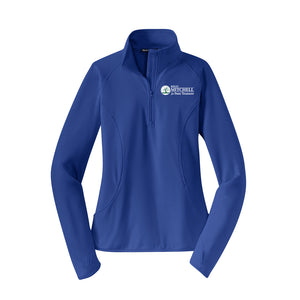 Mitchell for Treasurer Ladies Textured 1/4 Zip Pullover - Royal