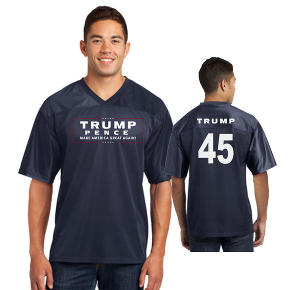 Trump Pence Mens Football Jersey