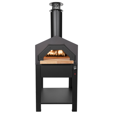 CBO-Americano Hybrid Stand front view outdoor wood fired pizza ovens
