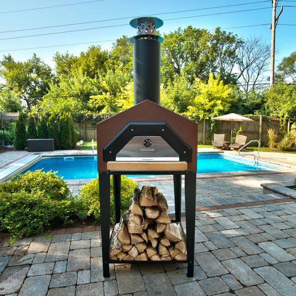 CBO-Americano Stand wood fired oven poolside