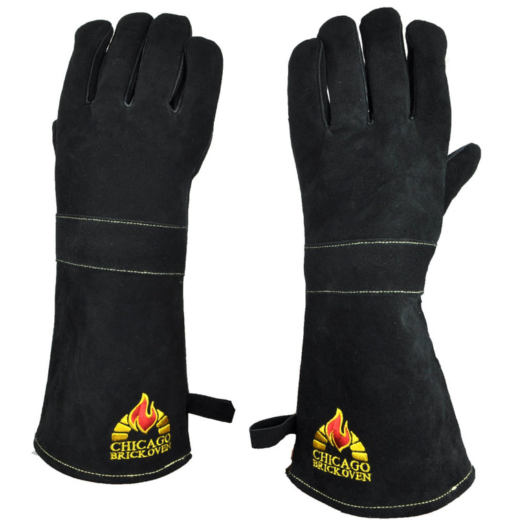 BBQ Oven Gloves with Premium Cowhide Leather and Kevlar Stitching