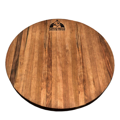 "Round 18"" Chicago Brick Oven Cherrywood Cutting Board"