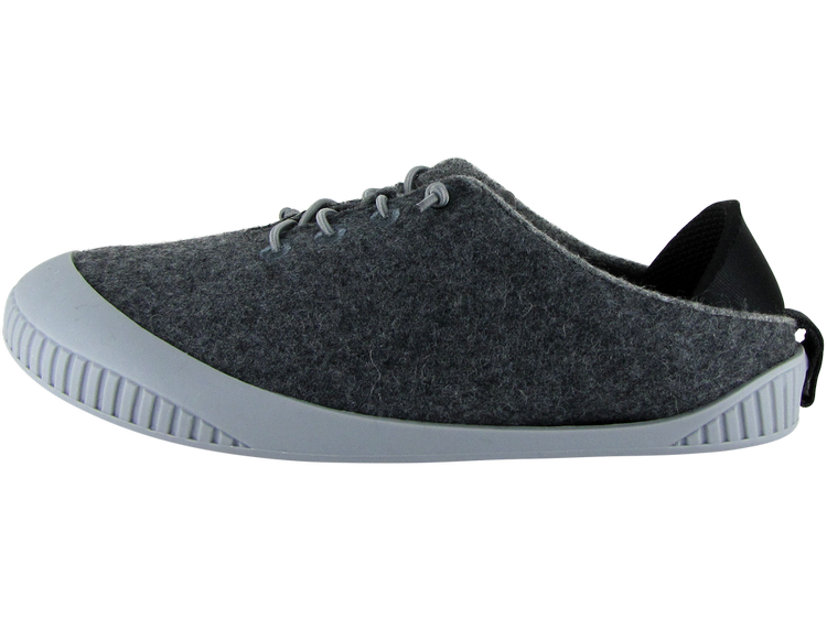 Fit Lace-Up Slipper Dark Grey
