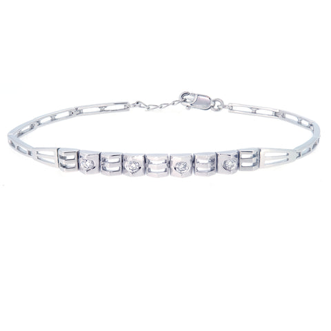 18K White Gold Diamond Bracelet | 18K 白金钻石手链