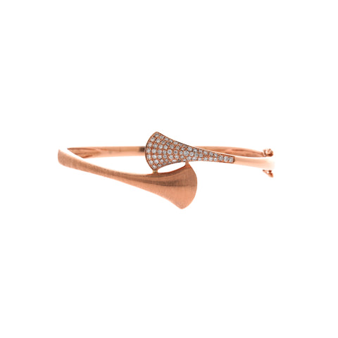 18K Rose Gold Diamond Bangle | 18K 玫瑰金钻石手镯