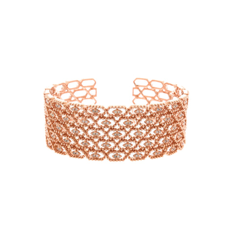 18K Rose Gold Brown Diamond Bangle | 18K 玫瑰金褐色钻石手镯