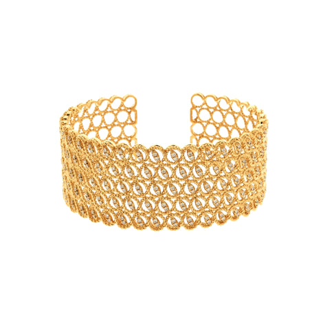 18K Yellow Gold Diamond Bangle | 18K 黃金钻石手镯