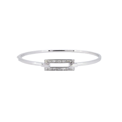 18K White Gold Diamond Bangle | 18K 白金钻石手镯