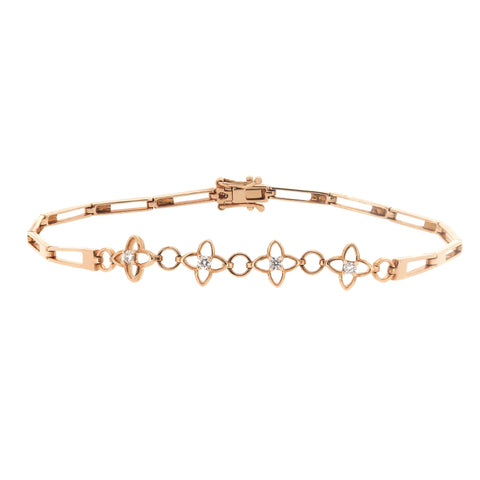 18K Rose Gold Diamond Bracelet | 18K 玫瑰金钻石手链