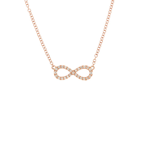 18K Rose Gold Diamond Necklace | 18K 玫瑰金钻石吊坠项链