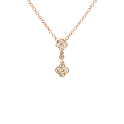 18K Rose Gold Diamond Necklace | 18K 玫瑰金钻石项链