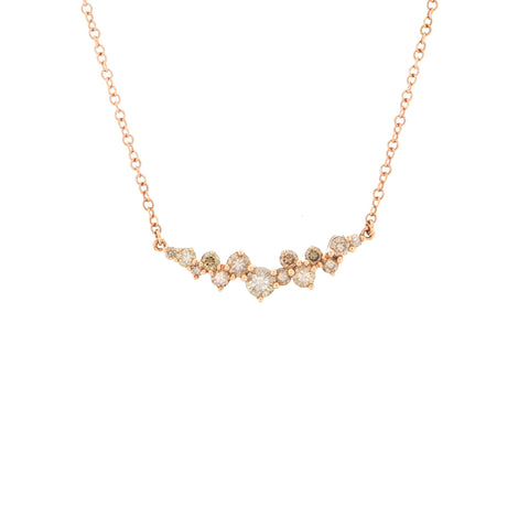 18K Rose Gold Brown Diamond Necklace | 18K 玫瑰金褐色钻石吊坠项链