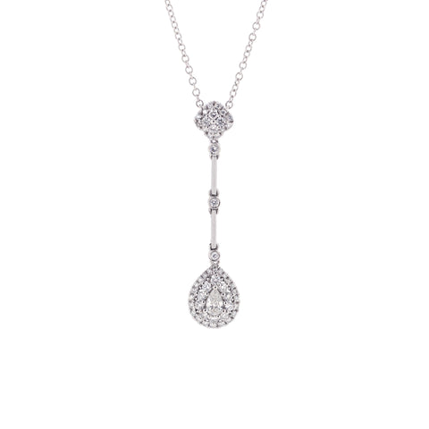 18K White Gold Diamond Necklace | 18K 白金钻石项链