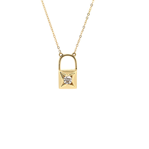 18K Yellow Gold Diamond Necklace | 18K 黃金钻石项链