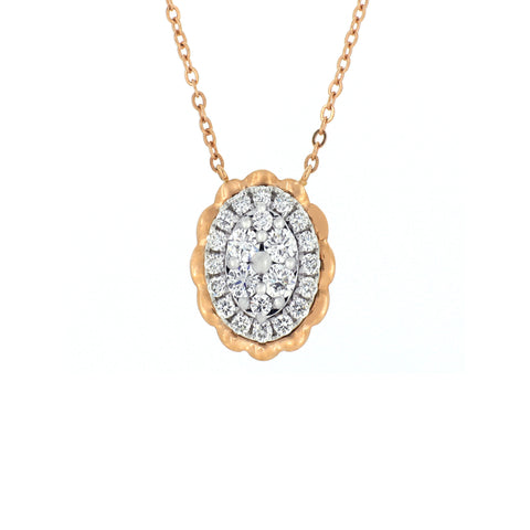 18K White & Rose Gold Diamond Necklace | 18K 白金及玫瑰金钻石项链