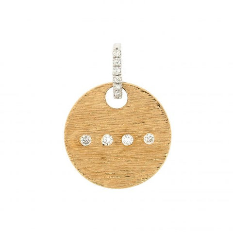 18K White & Yellow Gold Morse Code H Diamond Pendant