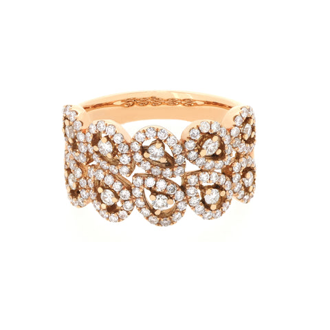 18K Rose Gold Diamond Ring | 18K 玫瑰金钻石戒指