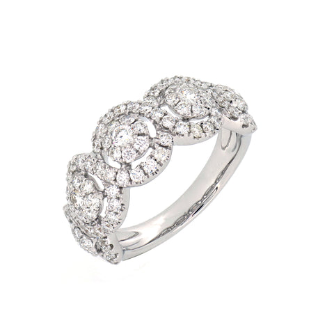 18K White Gold Diamond Ring | 18K 白金钻石戒指