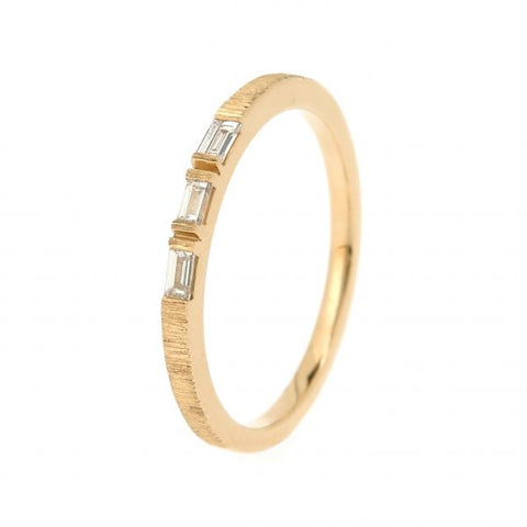 18K Yellow Gold Morse Code O Diamond Ring