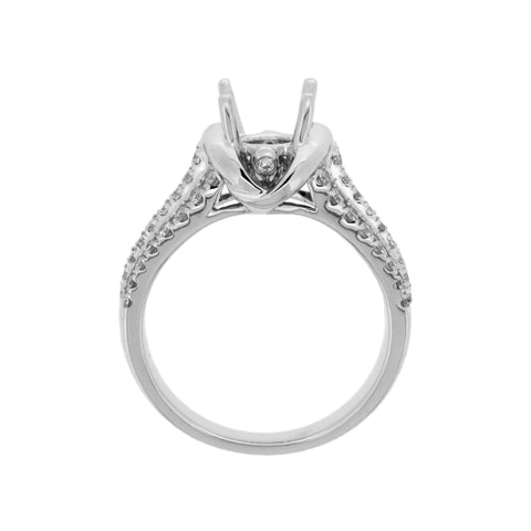 18K White Gold Diamond Ring Semi-Mounting | 18K 白金钻石戒托