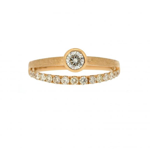 18K Yellow Gold & Yellow Diamond Ring