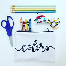 "the ""colors"" pouch"