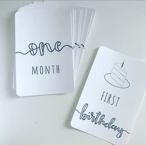 the first year milestones cards