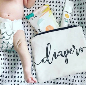 "the ""diapers"" pouch"