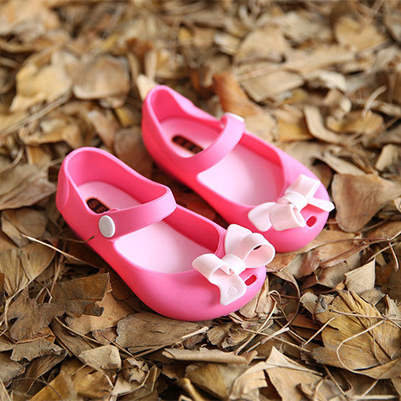 b79156729d8c MINISED BOW KNOT MARY JANE FLATS SANDALS JELLY SHOES