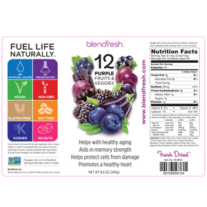 13 Purple Fruits & Vegetables Whole Food Powder