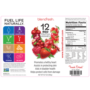 14 Red Fruits & Vegetables Whole Food Powder