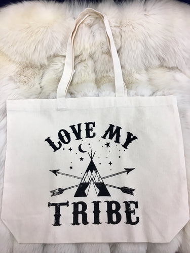 Love My Tribe Canvas Bag