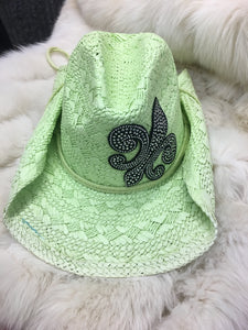 Lime Green Straw Hat