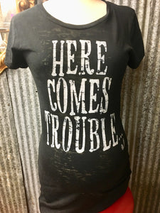 Here Comes Trouble Maternity Tee