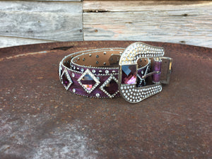 Purple Bling Belt